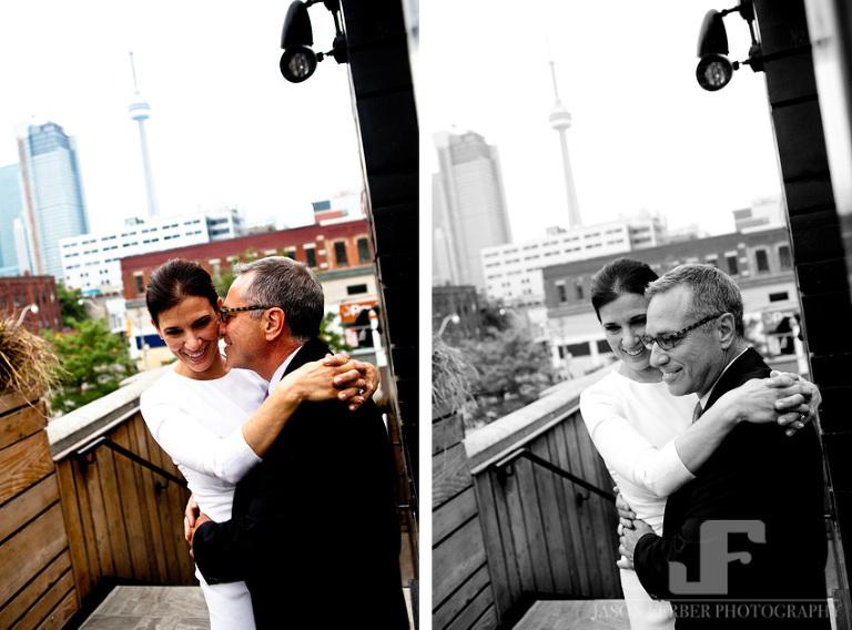 Bride Groom CN Tower Toronto Club Roof