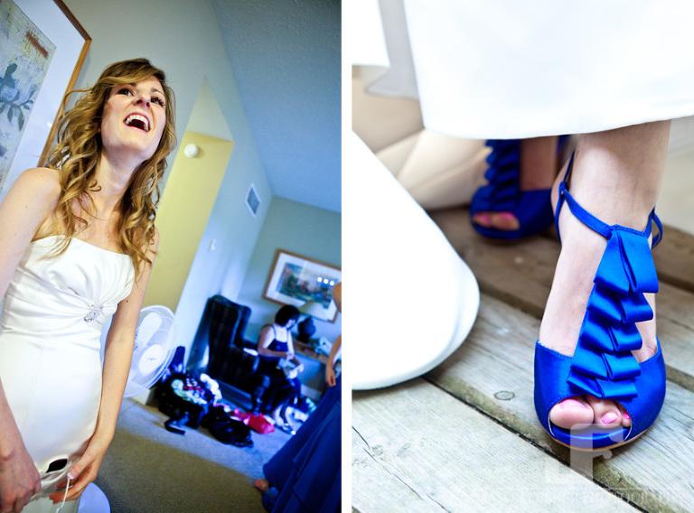 Bride Shoes Blue