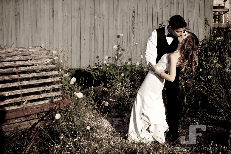 Bride and Groom Kiss Collingwood Best Wedding Photographer
