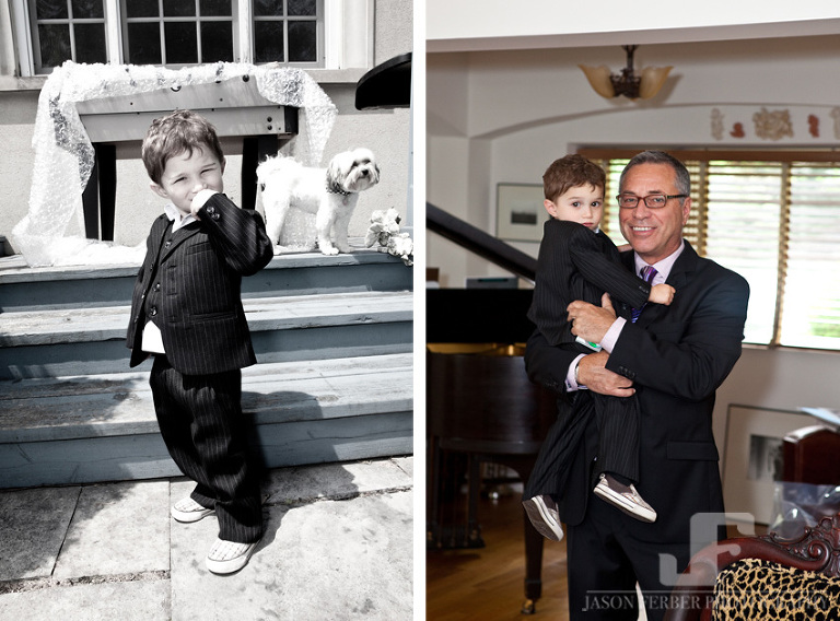 Groom and Grandson