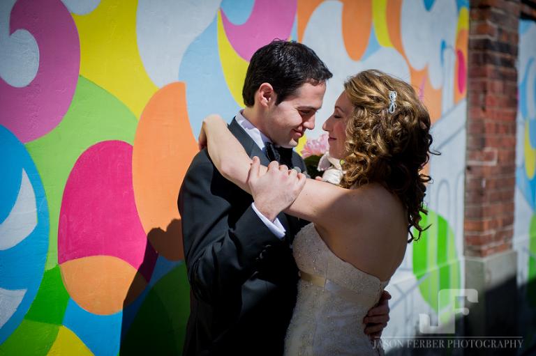 Liberty Village wedding couple photography