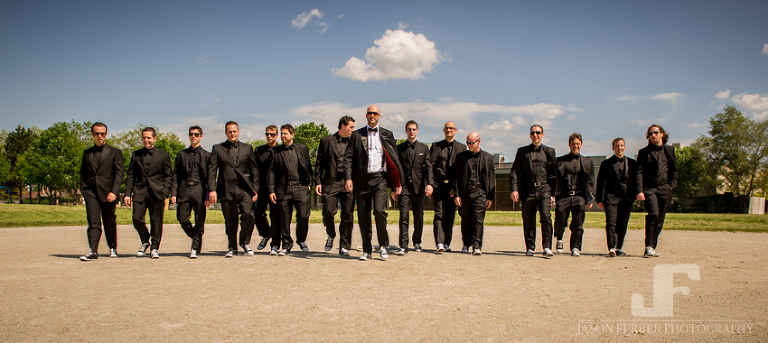 Groomsmen outdoor photography large group