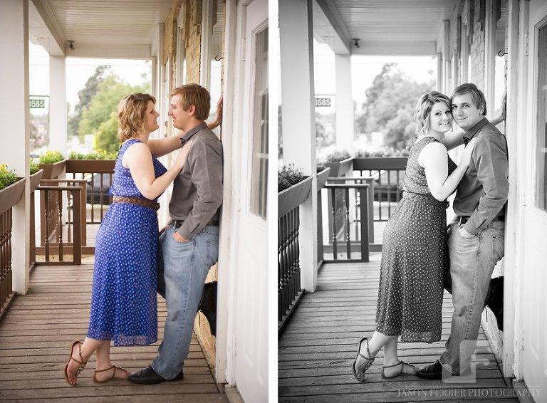 Covered porch rainy day romance